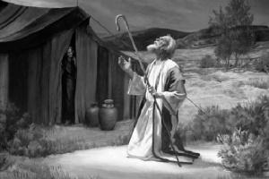 Abraham talking to God